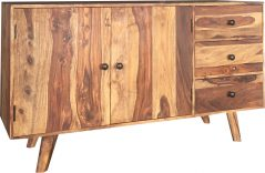 Medium two tone sheesham wood sideboard