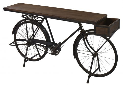 Retro upcycled bike table