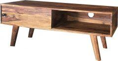 large sheesham wood TV stand with sliding door