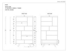 Two-tone Sheesham Wood  2-drawer 8-shelf Bookcase