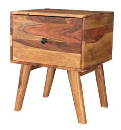 Two tone sheesham wood 1-drawer side table