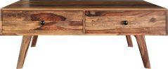 Two tone sheesham wood 2-drawer coffe table