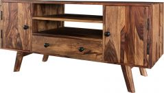 Two tone sheesham wood plasma TV stand-media unit