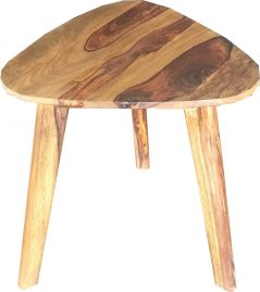 Two tone sheesham wood side table