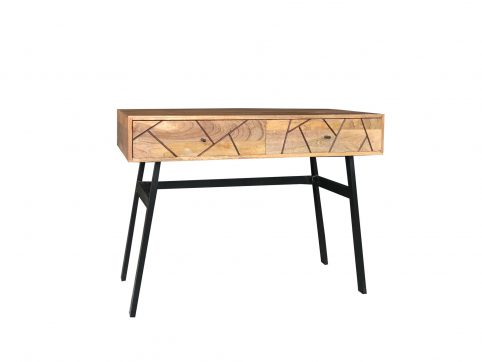 Urban retro industrial style range 2-drawer console table