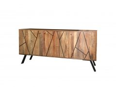 Urban retro range contemorary/ industrial 3-door sideboard with metal legs
