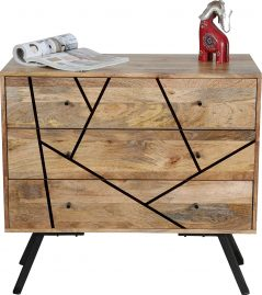 Urban retro range industrial style 3-drawer sideboard
