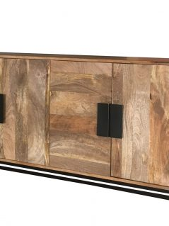Urbanization range contemporary 4-door wooden sideboard with metal legs