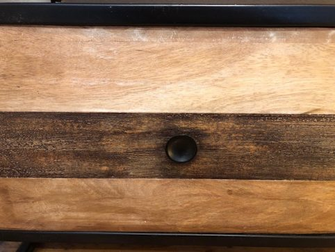 a close look of our industrial reclaimed wood furniture