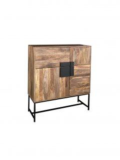 contemporary industrial style wooden 4 -door sideboard storage cabinet