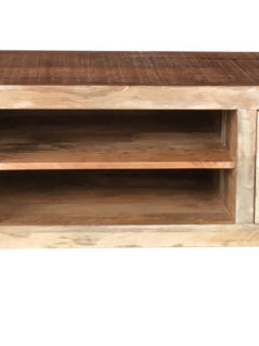 Pyramid range contemporary-industrial style TV stand-media unit with iron base