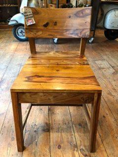 sheesham wood low back chair