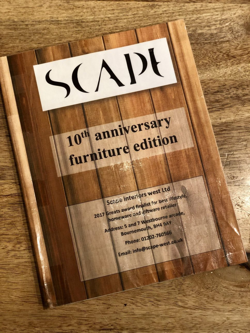 Scape 10th annivesary furniture