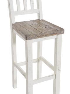 Solid reclaimed wood bar stool