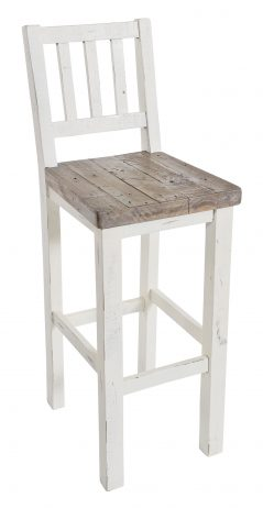 Solid reclaimed wood bar stool