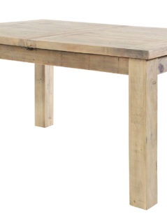 Natural solid reclaimed wood extanding dining table
