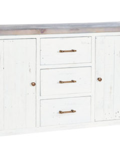 Solid reclaimed wood 153cm large sideboard