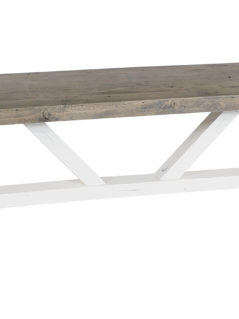 Solid reclaimed wood bench