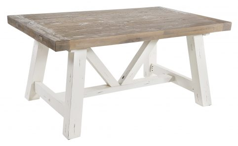 Solid reclaimed wood extendable dining table