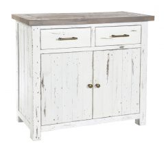 Solid reclaimed wood small sideboard