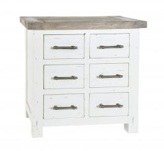 Solid reclaimed wood storage chest (6drawers)