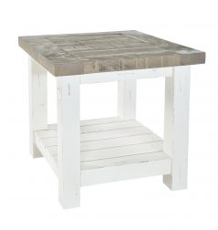 Solid reclaimed wood lamp table