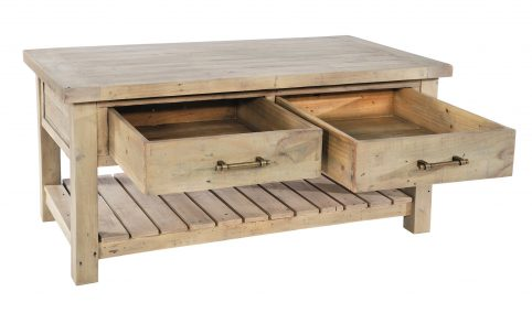 coffee table Drawers Open