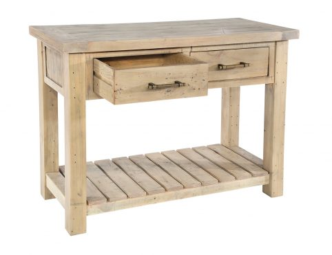 console table Drawer Open
