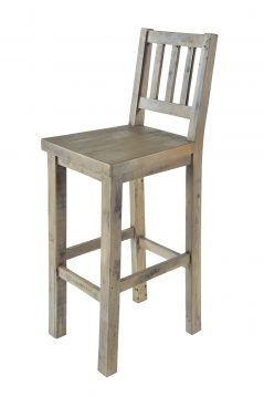 natural solid reclaimed wood bar stool