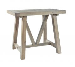 natural solid reclaimed wood bar table