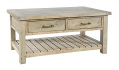 natural solid reclaimed wood coffee table