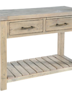 natural solid reclaimed wood console table
