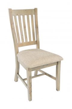natural solid reclaimed wood dining chair