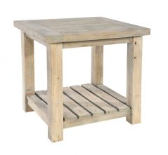 natural solid reclaimed wood lamp table