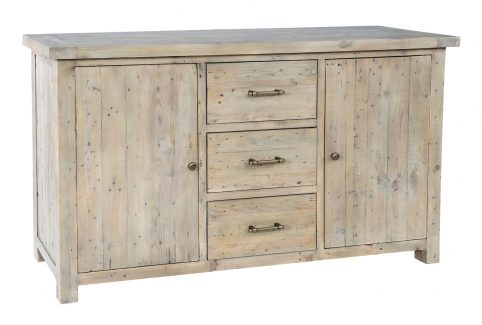 natural solid reclaimed wood large sideboard