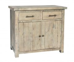 natural solid reclaimed wood small sideboard