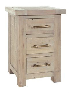 natural solid reclaimed wood storage chest (3drawers)