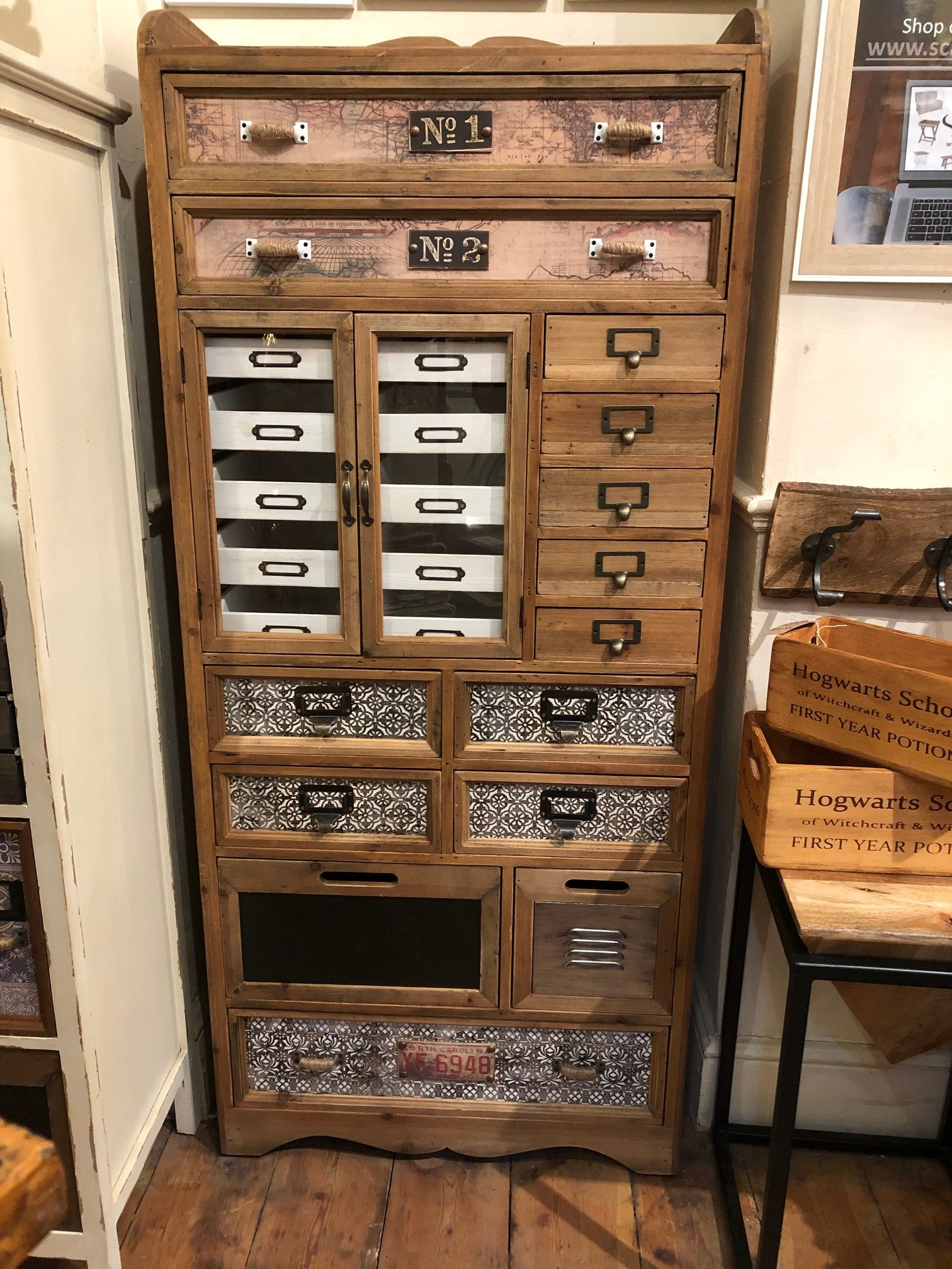 Unique Vintage Style Chest Of Drawers