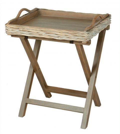 handmade rattan butler tray:table