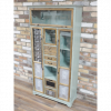 shabby chic Bobemian style storage cabinet chest of drawers painted in light blue