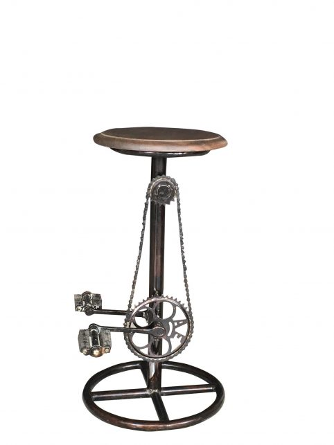 upcycled bike bar stool