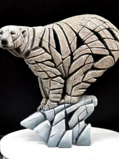 handpainted polar bear sculpture