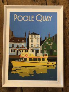 vintage style Poole quay art