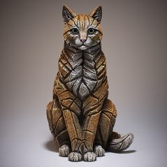 Cat Sitting Sculpture