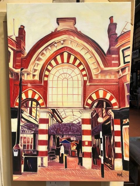 Victorian Westbourne arcade painting