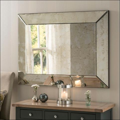 Antique bordeaux mirror