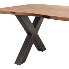 Industrial Style Chunky Solid Acacia Wood Natural Edge Dining Table