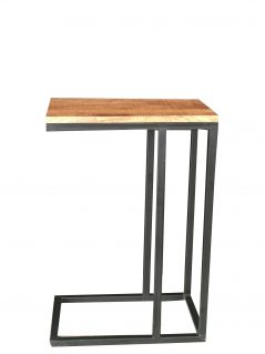 Industrial Style Light Mango Wood Side Table