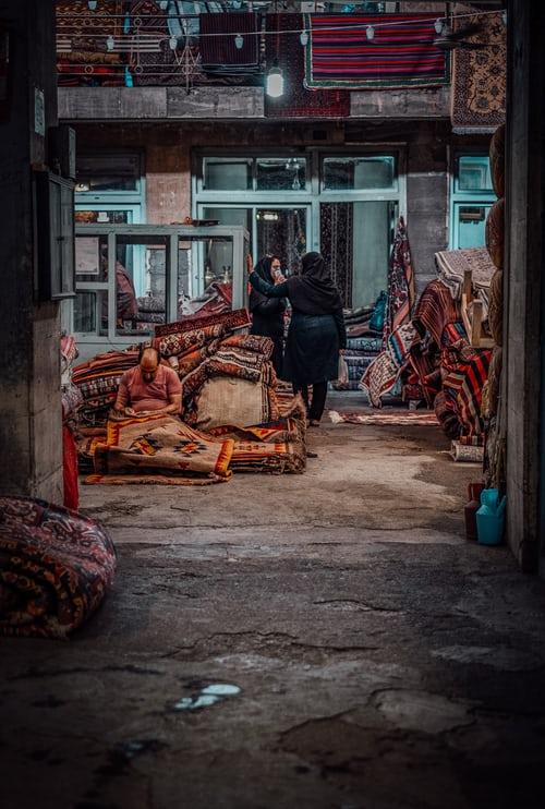 the Grand Bazar in Tehran, Iran