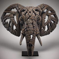 contemporary elephant bust sculpture edge sculpture from UK